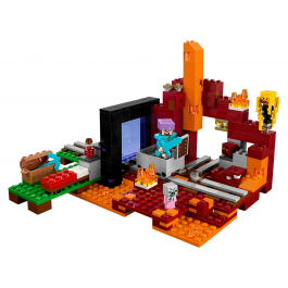 Il portale del Nether - Lego Minecraft 21143
