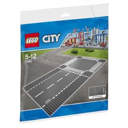 Piattaforme con rettilineo e incrocio - Lego City 7280