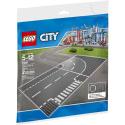 Incrocio a T e curva - Lego City 7281