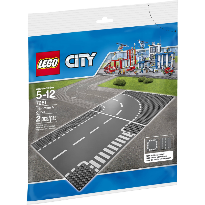 Incrocio a T e curva - Lego City 7281