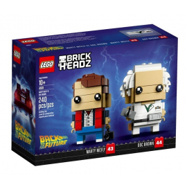 Marty McFly e Doc Brown - Lego Brick Headz 41611