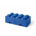 Contenitore Lego mattoncino 12L blu
