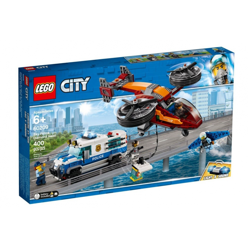 Polizia aerea: furto di diamanti - Lego City 60209