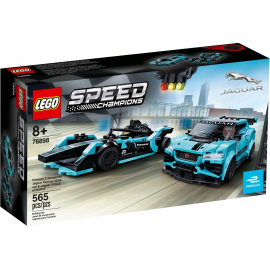 Formula E Panasonic Jaguar Racing GEN2 car & Jaguar I-PACE eTROPHY - Lego 76898